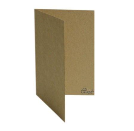 Karta bigowana A6 kraft - GoatBox