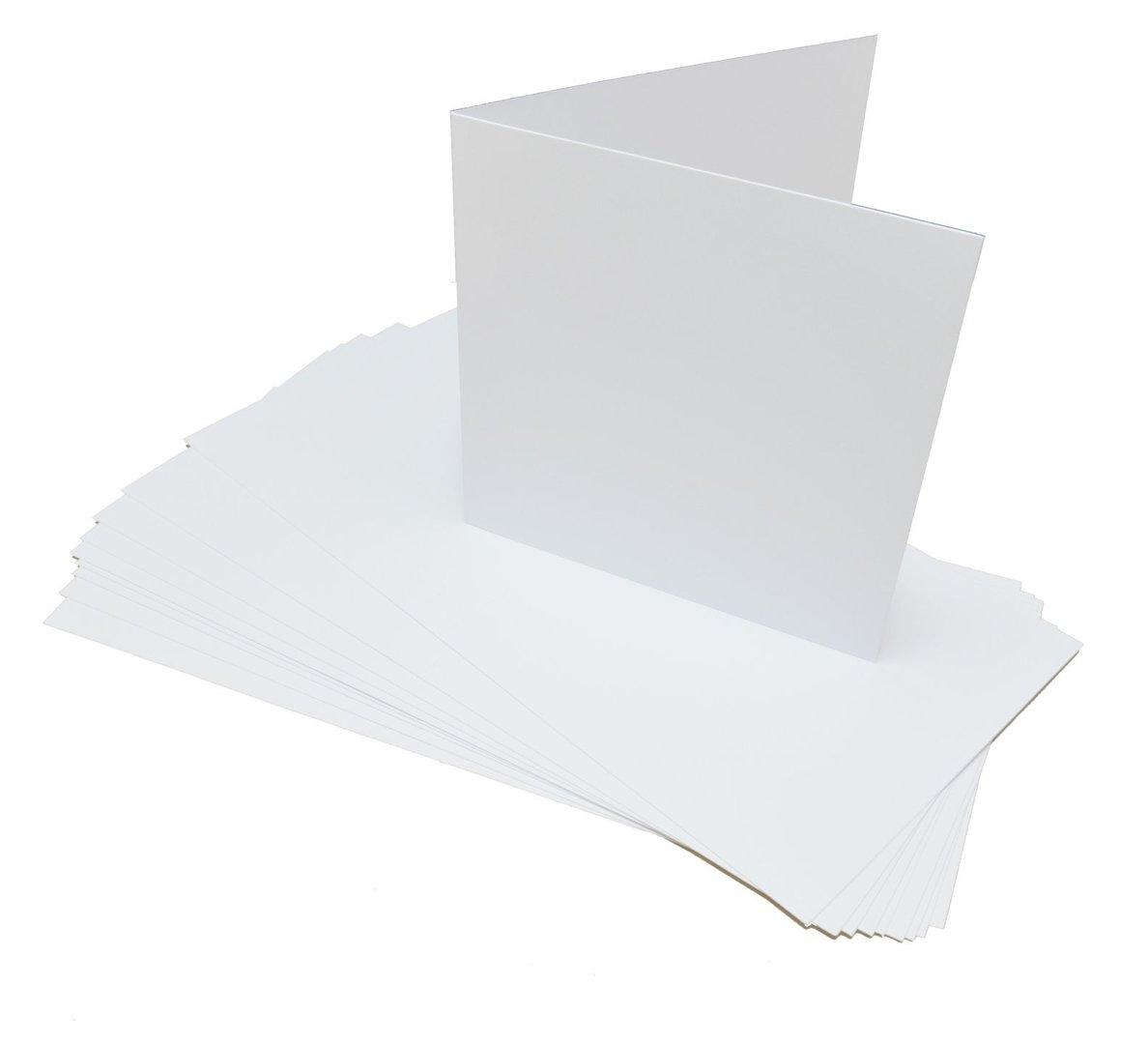 Karta bigowana kwadrat biała matowa 10szt. - GoatBox