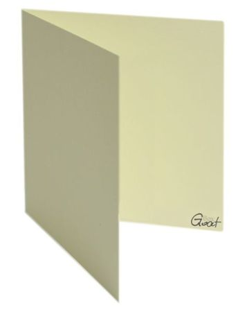 Karta bigowana kwadrat ecru z fakturą - GoatBox