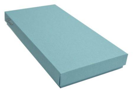 Pudełko na kartkę DL niebieskie z fakturą - GoatBox