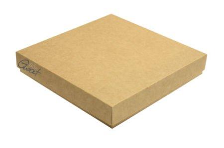 Pudełko na kartkę  kwadratową kraft - GoatBox