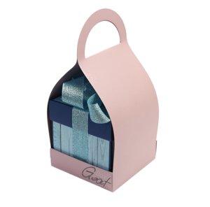 Trzymak nosidełko na exploding box - różowy perłowy
